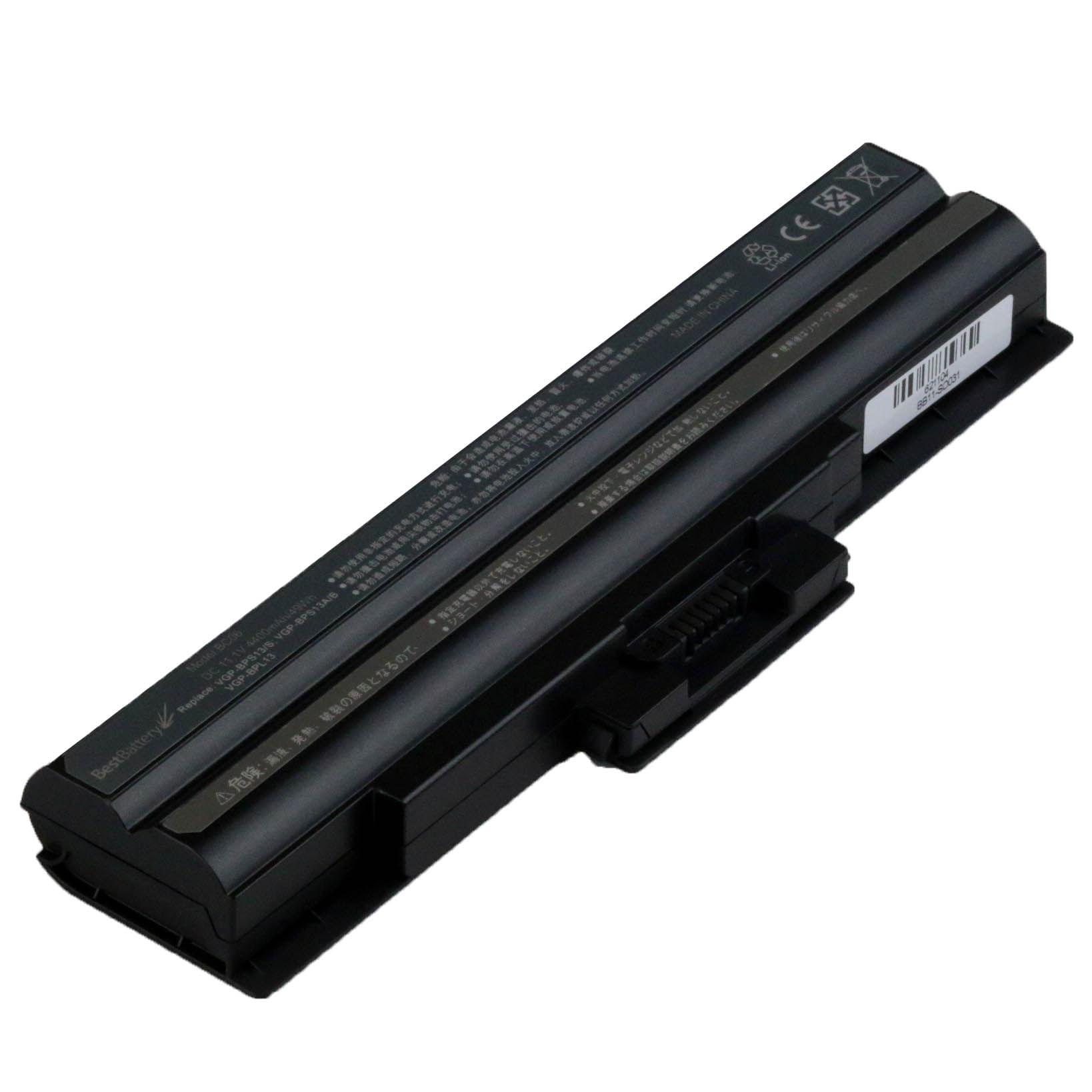 Bateria para Notebook Sony Vaio VGN - NS290 - 6 Celulas, ate 3 horas - Preta