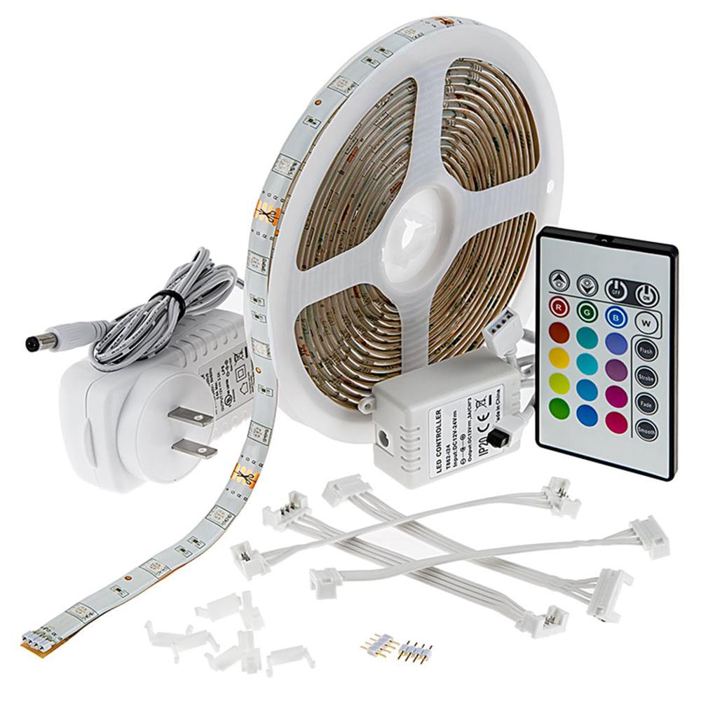 KIT-10M-Fita-LED-Multitemperatura---Controle---Fonte---Amplificador---Emenda