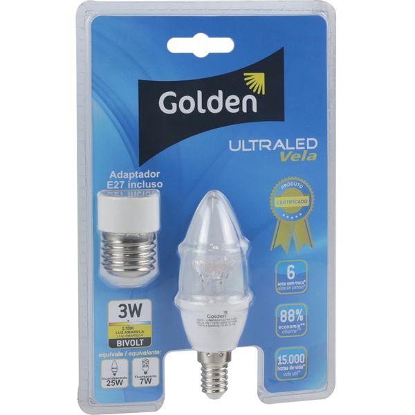 Lampada-LED-Vela-Ultraled-Transparente-3W-E14-Bivolt-Golden®---Luz-Amarela---2.700K-01