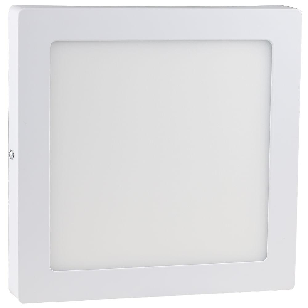 Luminaria Plafon Led De Embutir 40w Retangular 32x122cm Branco Frio
