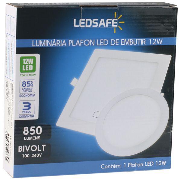 Luminaria-Plafon-12w-LED-Embutir-Branco-Quente-4