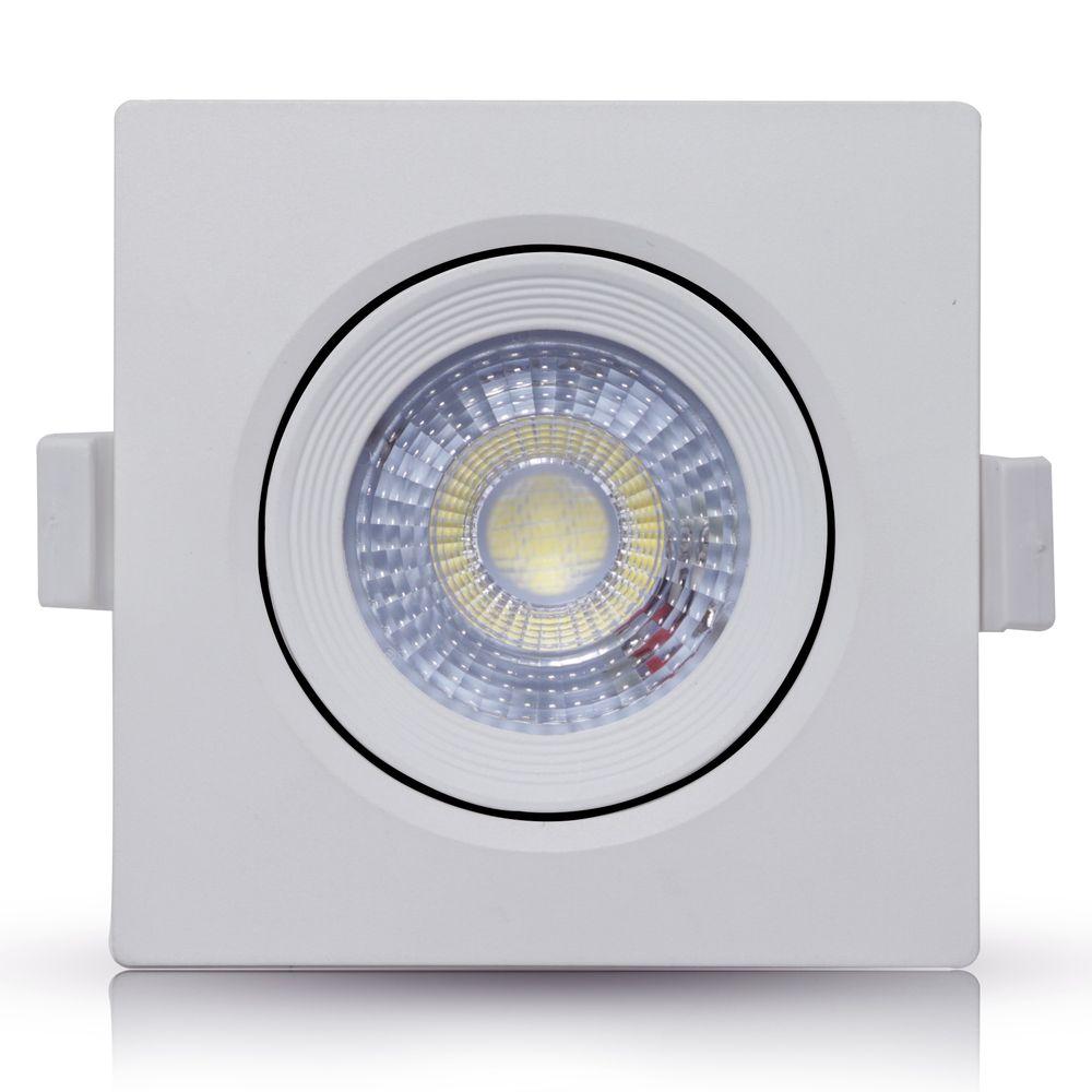 Spot-LED-Embutir-5W-Quadrado-|-Ledsafe®---Branco-Quente