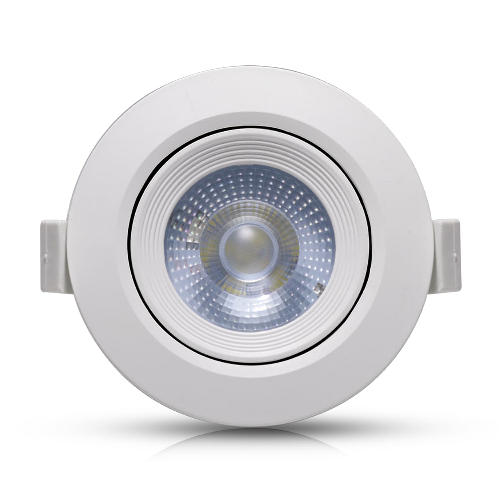 Spot-LED-Embutir-5W-Redondo-|-Ledsafe®---Luz-Amarela---3000K-1