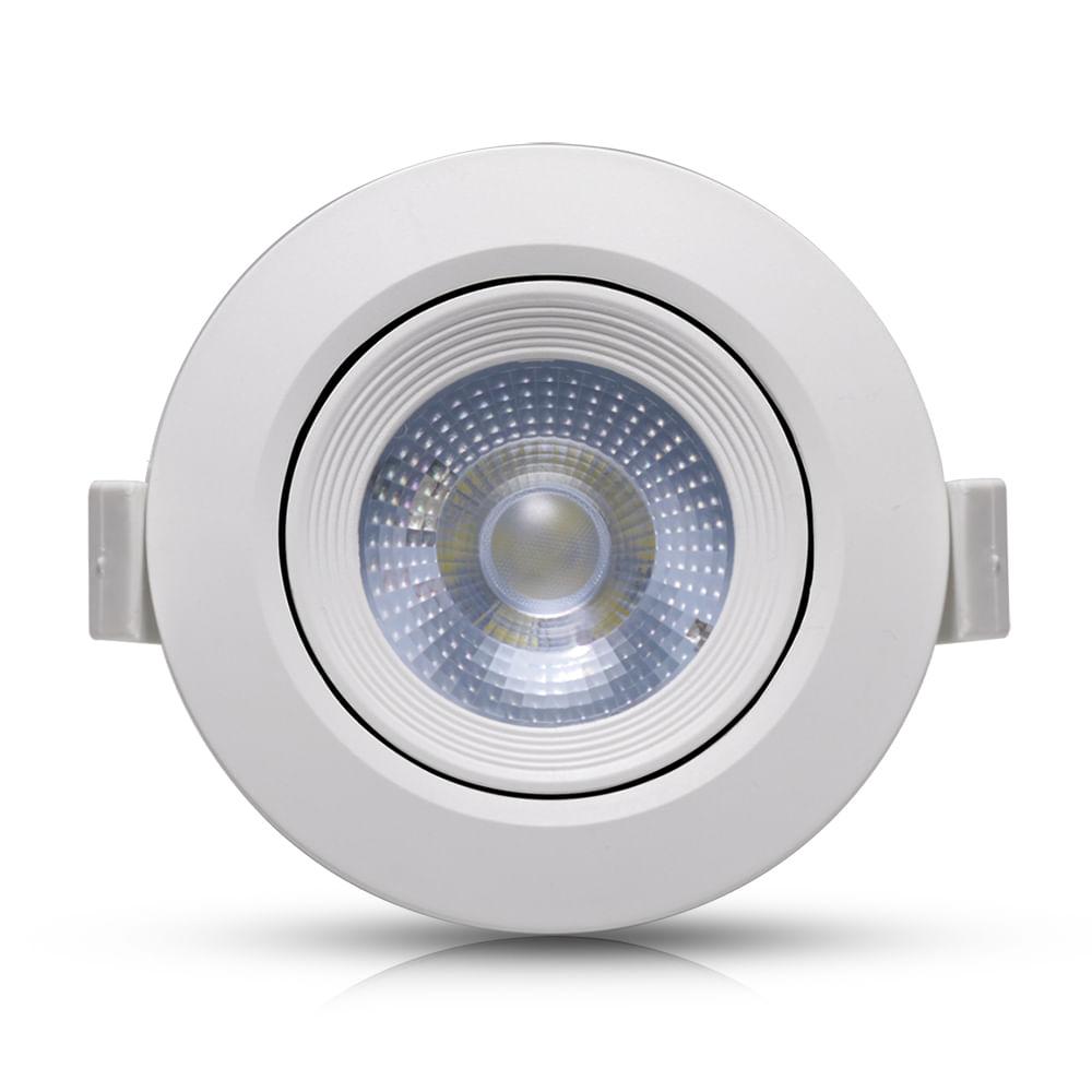 Spot-LED-Embutir-7W-Redondo-|-Ledsafe®---Luz-Amarela---3000K-1