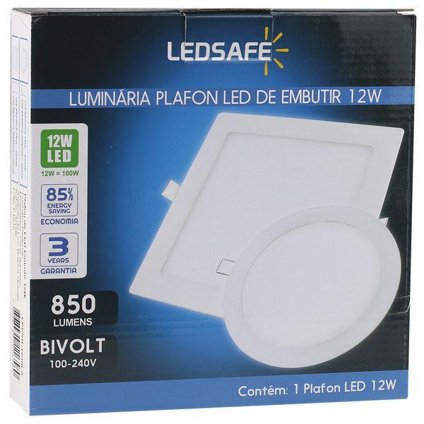 Luminaria-Plafon-12w-LED-Embutir-Redonda-Branco-Quente-4