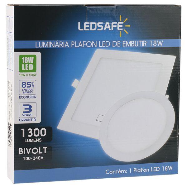 Luminaria-Plafon-18w-LED-Embutir-Redonda-Branco-Quente-4