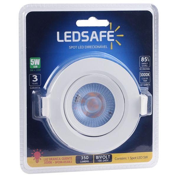 Spot-LED-Embutir-5W-Redondo-Ledsafe-Luz-Amarela-3000K-03