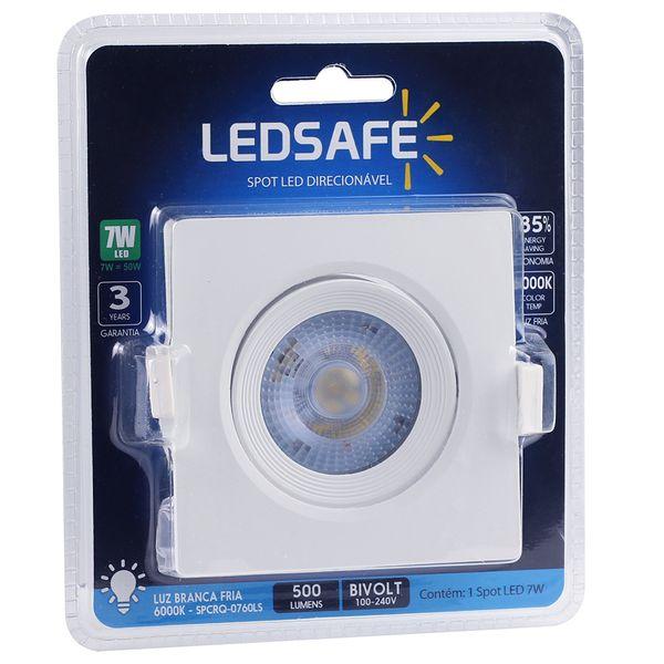 Spot-LED-Embutir-7W-Quadrado-|-Ledsafe®---Luz-Branca---6000K-03