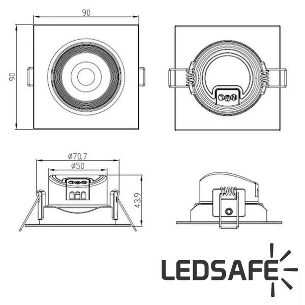 Spot-LED-Embutir-5W-Redondo-|-Ledsafe®---Luz-Amarela---3000K-05