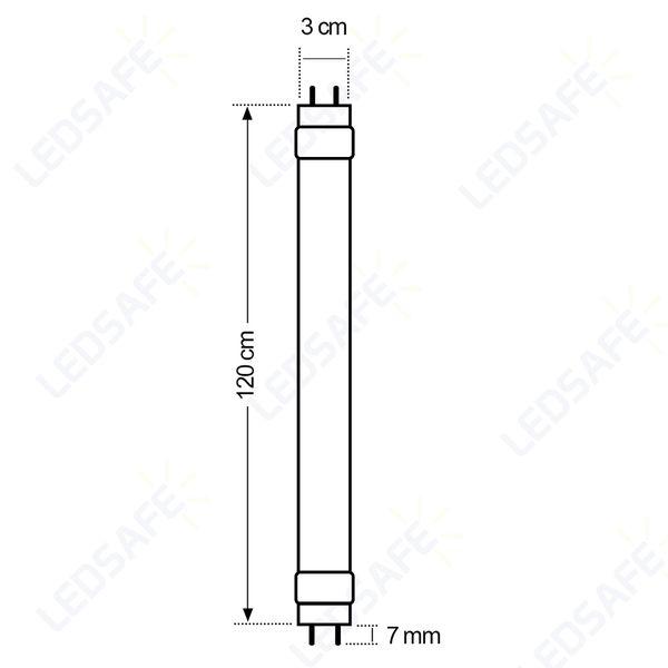 Lampada-LED-Tubular-18W-Branco-Frio--6500K-T8-120cm-Bivolt-Golden®-2