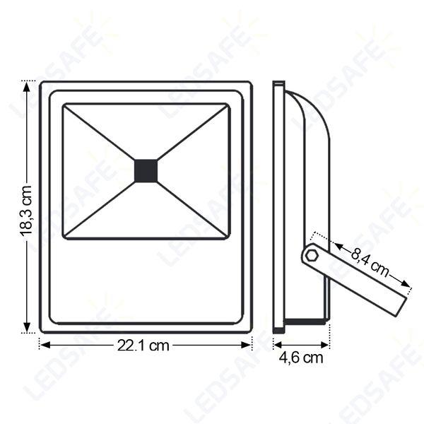 Ledsafe®---Refletor-LED-30W-COB-|-Branco-Frio--6000K--03
