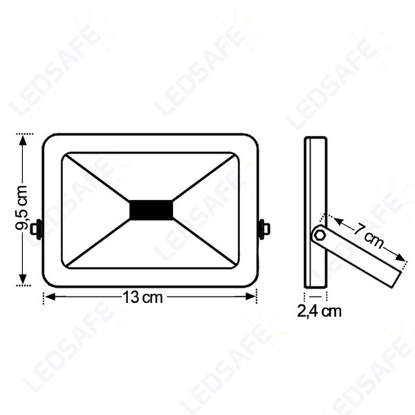 Ledsafe®---Refletor-LED-10W-Design-Preto-|-Branco-Frio--6000K-4