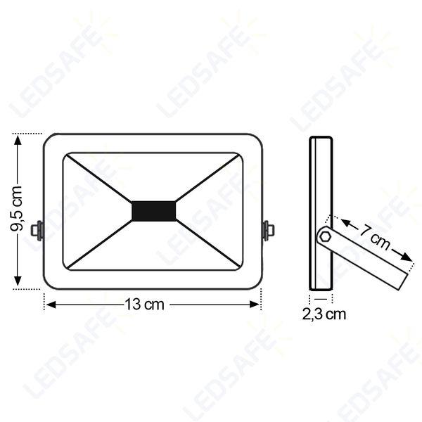 Ledsafe®---Refletor-LED-10W-Design-Preto-|-Branco-Quente--3000K--4