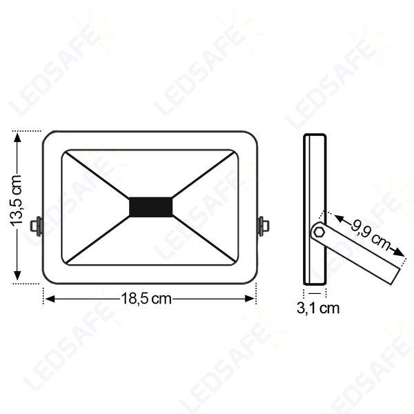 Ledsafe®---Refletor-LED-30W-Design-Preto-|-Branco-Frio--6000K--4