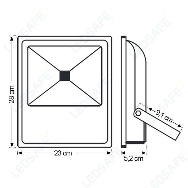 Ledsafe®---Refletor-LED-50W-COB-|-Branco-Frio--6000K--3