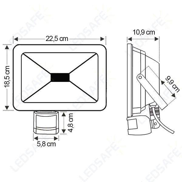 Ledsafe®---Refletor-LED-30W-C-Sensor-Bivolt-|-Branco-Frio--6000K--3