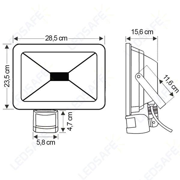 Ledsafe®---Refletor-LED-50W-C-Sensor-Bivolt-|-Branco-Frio--6000K--3