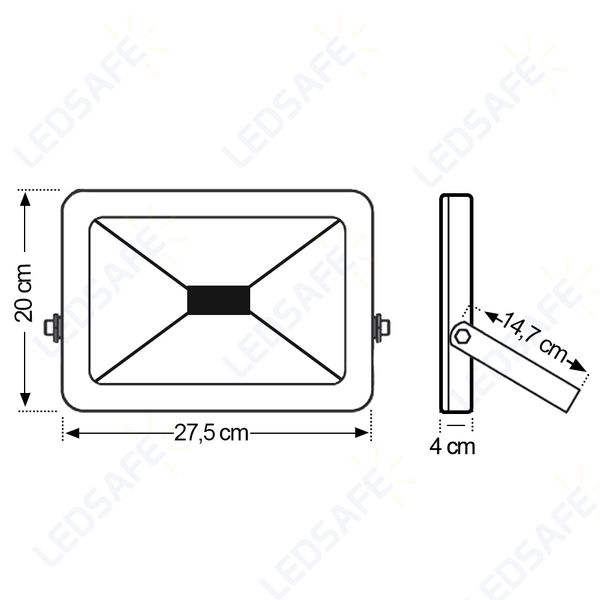 Ledsafe®---Refletor-LED-50W-Design-Preto-|-Branco-Frio--6000K--4