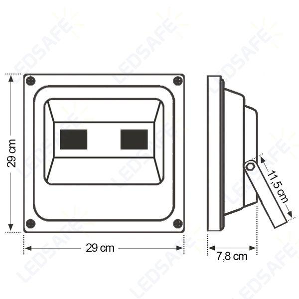 Ledsafe®---Refletor-LED-100W-COB-|-Branco-Frio--6000K--3