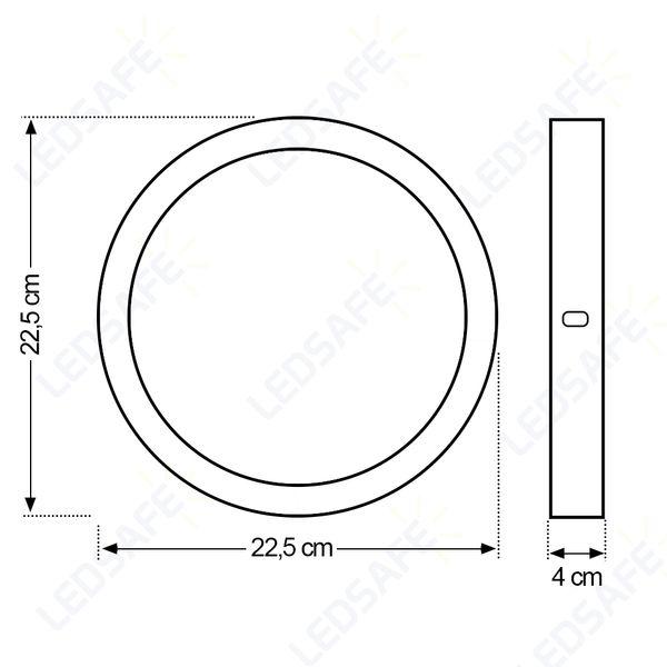 Luminaria-Plafon-18w-LED-Sobrepor-Redonda-Branco-Quente-5