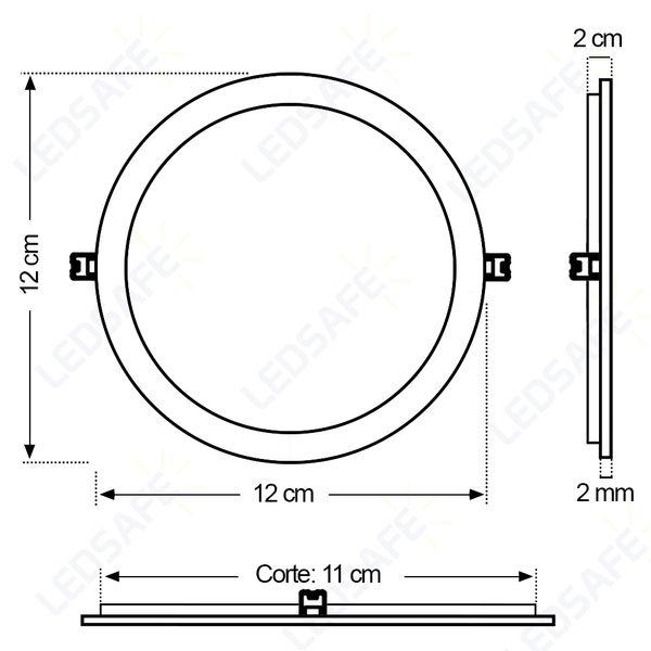 Luminaria-Plafon-LED-de-Embutir-6W-Redonda-Branco-Frio-13cm-Ultra-LED-|-Golden®-3