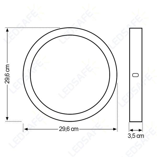 Luminaria-Plafon-LED-de-Sobrepor-24W-Redondo-Branco-Frio-Ultra-LED-|-Golden®-5