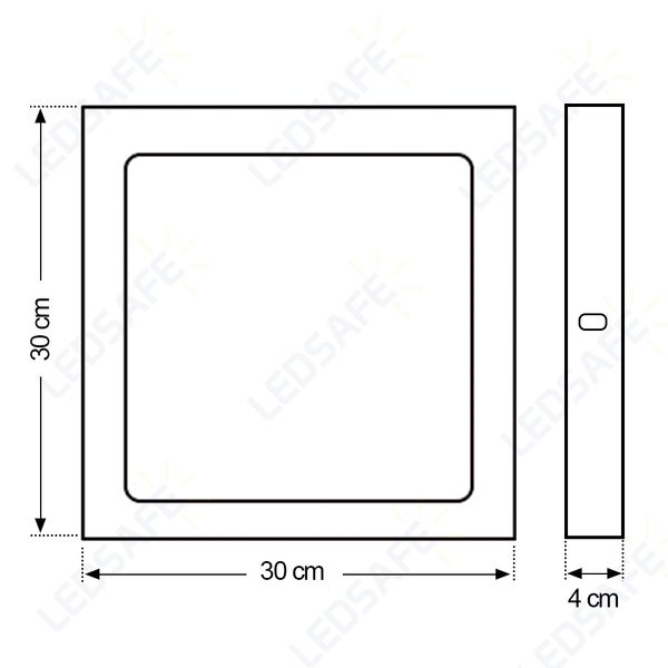 Luminaria-Plafon-LED-de-Sobrepor-24W-Quadrada-Branco-Quente-Ultra-LED-|-Cristallux®-5