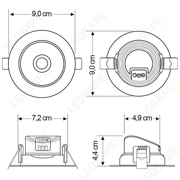 Spot-LED-Embutir-7W-Redondo-|-Ledsafe®---Luz-Branca---6000K-07