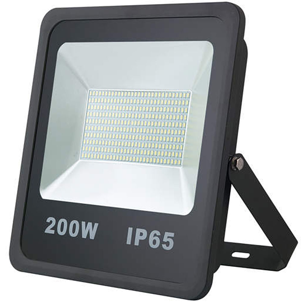 Refletor-de-LED-200W-SMD-Preto---Luz-Branca-Fria-6000K-