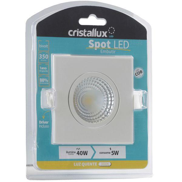 Spot-LED-de-Embutir-Dicroica-5W-Quadrada-Branco-Quente-Cristallux®-3