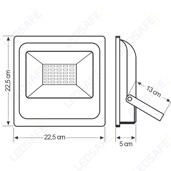 Refletor-de-LED-50W-SMD-Preto---Luz-Branca-Fria-6000K-Ledsafe®-3