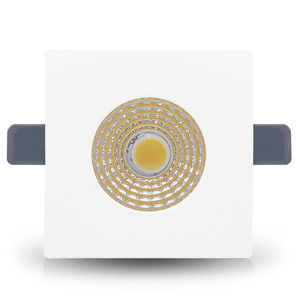 Spot-LED-de-Embutir-Mini-Dicroica-2W-Quadrada-Branco-Quente-Lente-Clara-Cristallux®-1