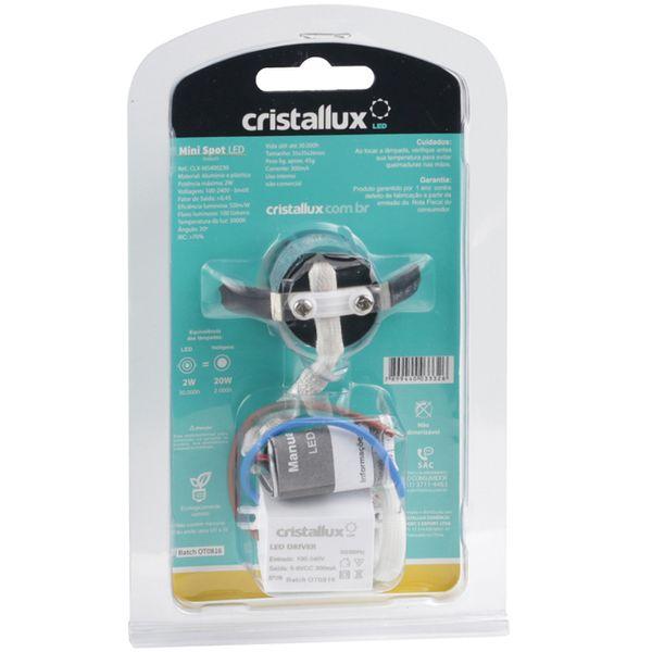 Spot-LED-de-Embutir-Mini-Dicroica-2W-Quadrada-Branco-Quente-Lente-Clara-Cristallux®-3