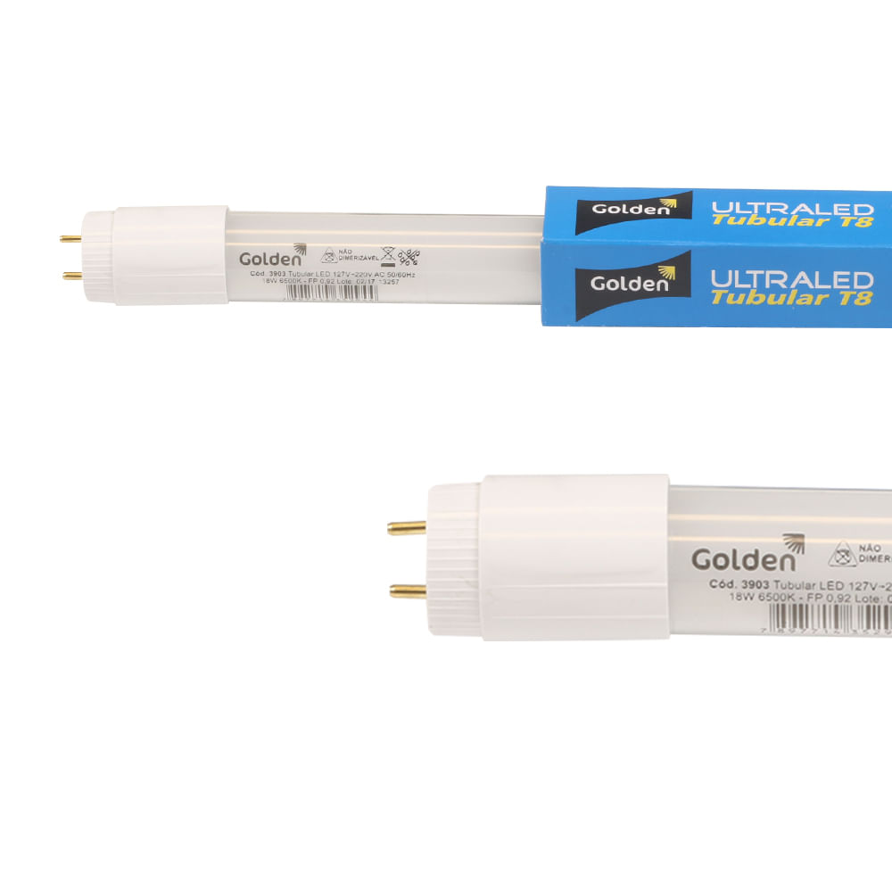 Lampada-LED-Tubular-18W-Branco-Frio--6500K--T8-120cm-Bivolt-|-Golden®-1