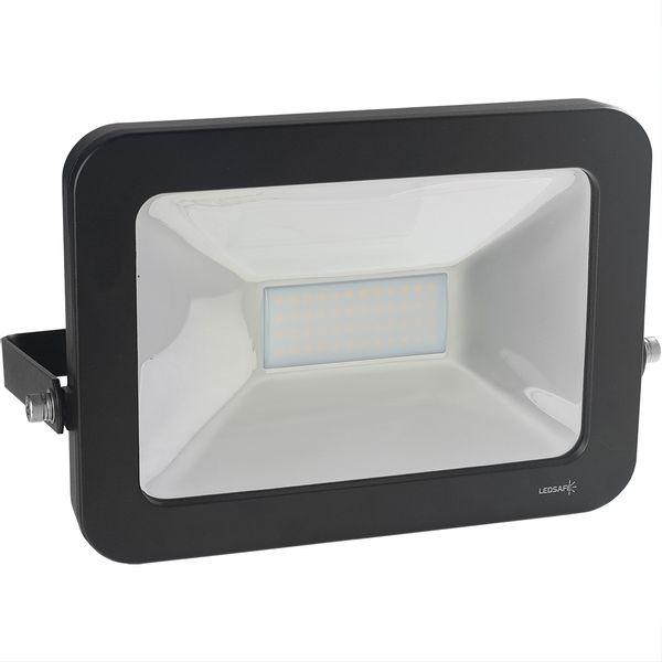 Ledsafe®---Refletor-LED-50W-Design-Preto-|-Branco-Quente--3000K--1