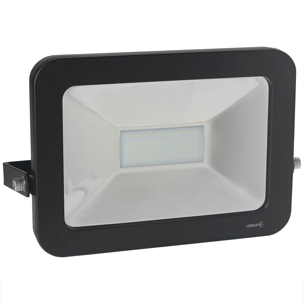 Ledsafe®---Refletor-LED-50W-Design-Preto-|-Branco-Frio--6000K--1