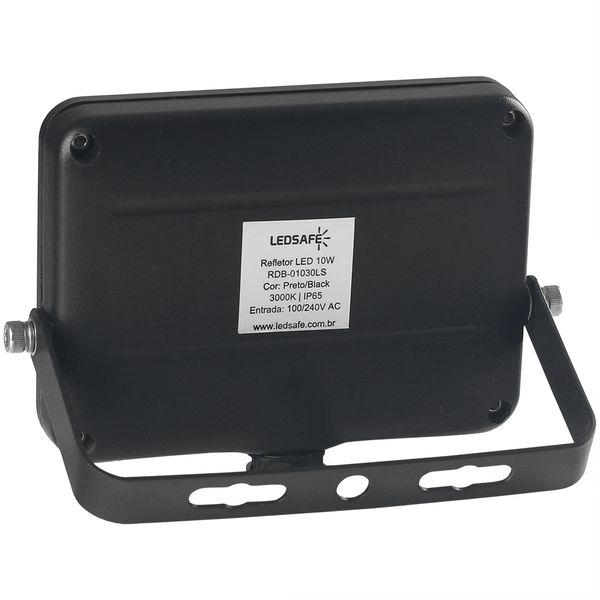 Ledsafe®---Refletor-LED-10W-Design-Preto-|-Branco-Quente--3000K--2