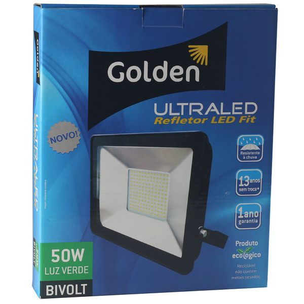 Refletor-de-LED-Slim-50W-Golden-Bivolt-Ultra-LED-SMD---Verde-3