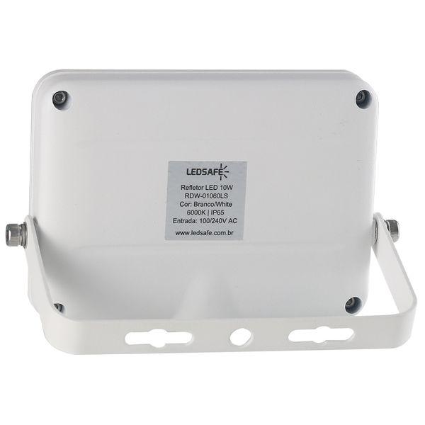 Ledsafe®---Refletor-LED-10W-Design-Branco- -Branco-Frio--6000K--2