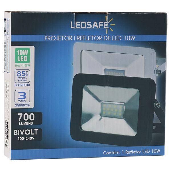 Ledsafe®---Refletor-LED-10W-Design-Branco- -Branco-Frio--6000K--3