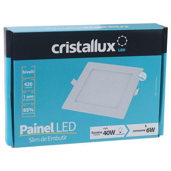 Luminaria-Plafon-LED-de-Embutir-6W-Quadrada-Branco-Frio-Ultra-LED-|-Cristallux®-4