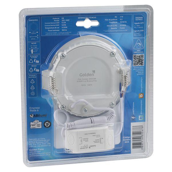 Luminaria-Plafon-LED-de-Embutir-6W-Redonda-Branco-Frio-13cm-Ultra-LED-|-Golden®-2
