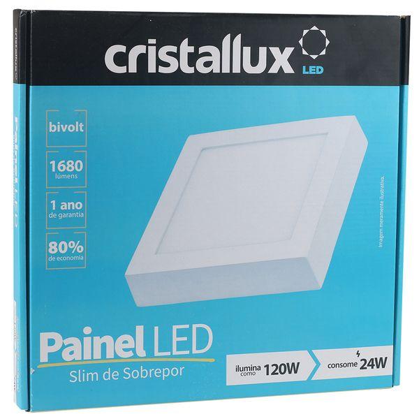 Luminaria-Plafon-LED-de-Sobrepor-24W-Quadrada-Branco-Quente-Ultra-LED-|-Cristallux®-4