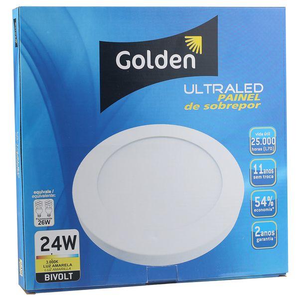 Luminaria-Plafon-LED-de-Sobrepor-24W-Redondo-Branco-Quente-Ultra-LED- -Golden®-4