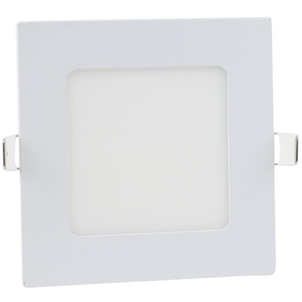 Luminaria-Plafon-LED-de-Embutir-6W-Quadrada-Branco-Quente-Ultra-LED-|-Cristallux®-1