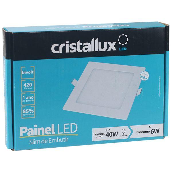 Luminaria-Plafon-LED-de-Embutir-6W-Quadrada-Branco-Quente-Ultra-LED-|-Cristallux®-4