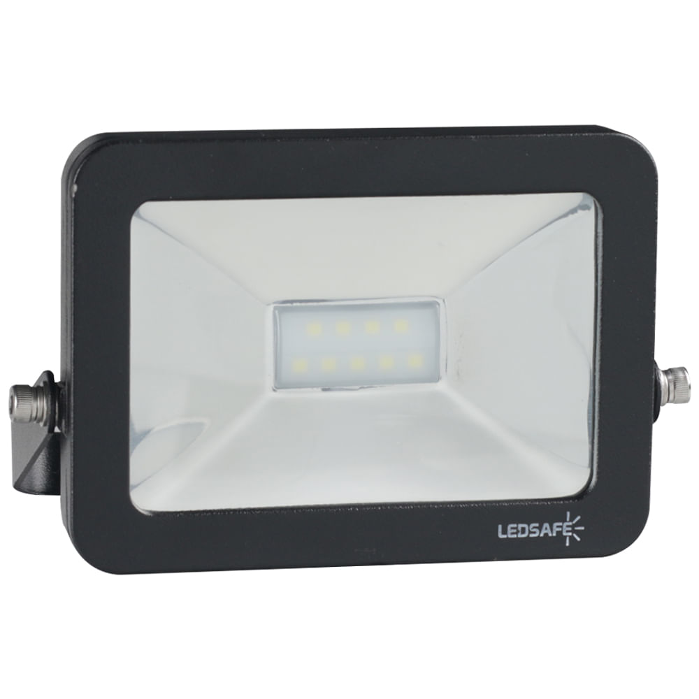 Ledsafe®---Refletor-LED-10W-Design-Preto-|-Branco-Frio--6000K--1