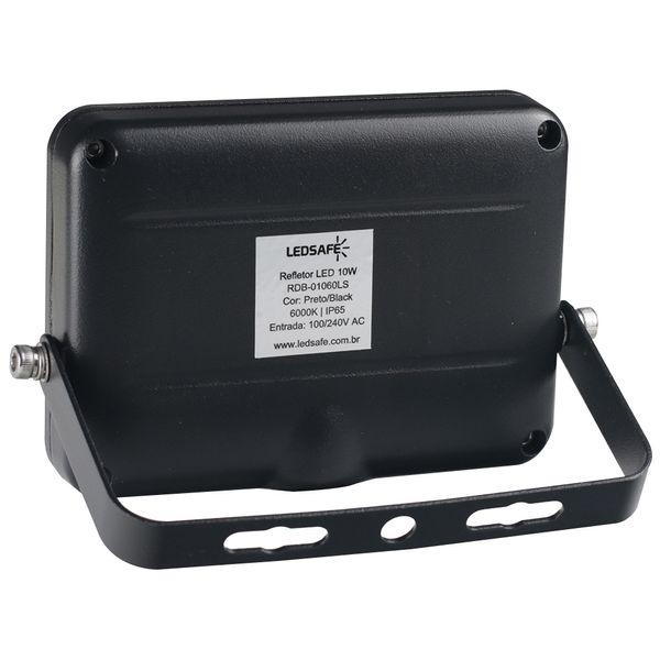 Ledsafe®---Refletor-LED-10W-Design-Preto-|-Branco-Frio--6000K--2
